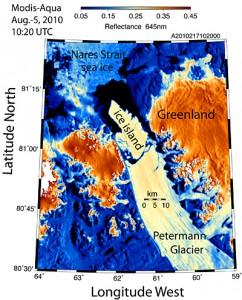Від Гренландії відколовся льодовик