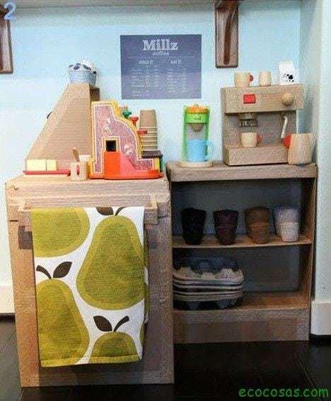 cocina de carton 25 formas de reciclar cajas de cartón para que tus hijos se diviertan
