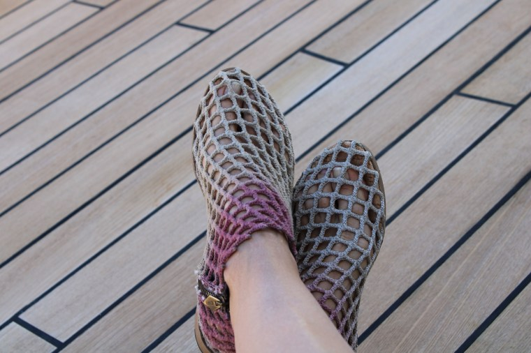 Beautifully handcrafted italian shoe made with recycled fishing nets