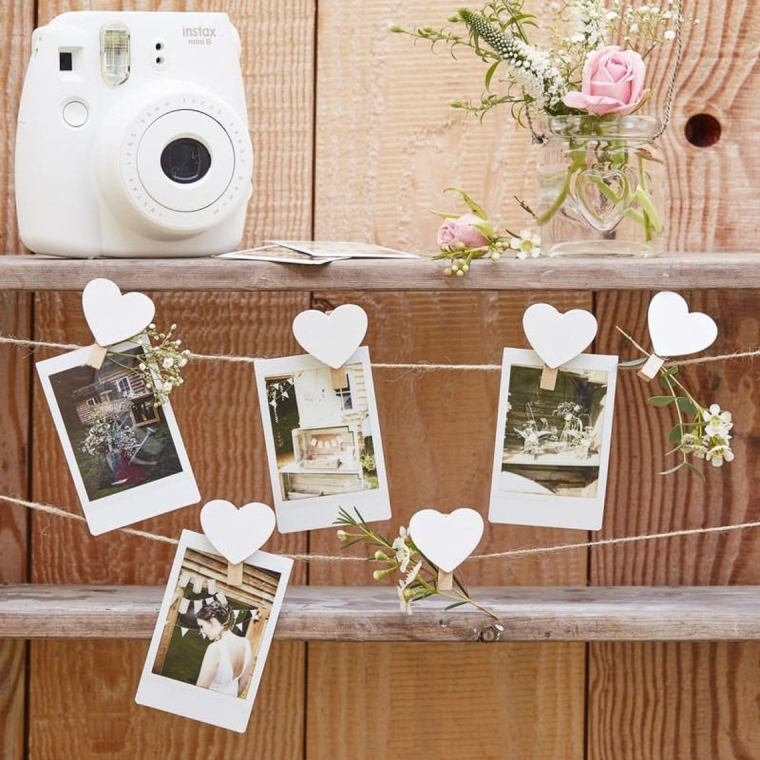 sustainable wedding decorations string with hearts