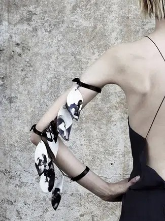Titiania Inglis paired up with a local ceramic designer for this gorgeous arm piece.