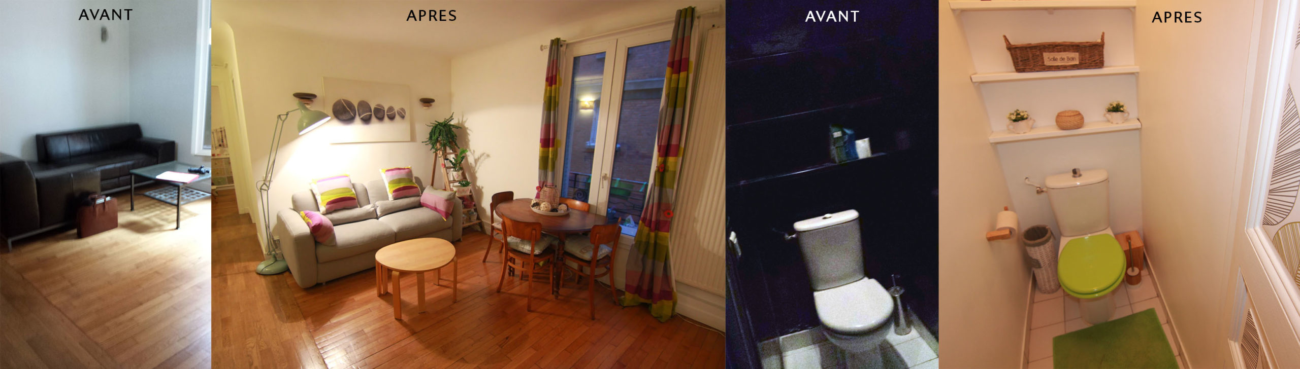 Home-staging d'un salon dans un appartement à Paris