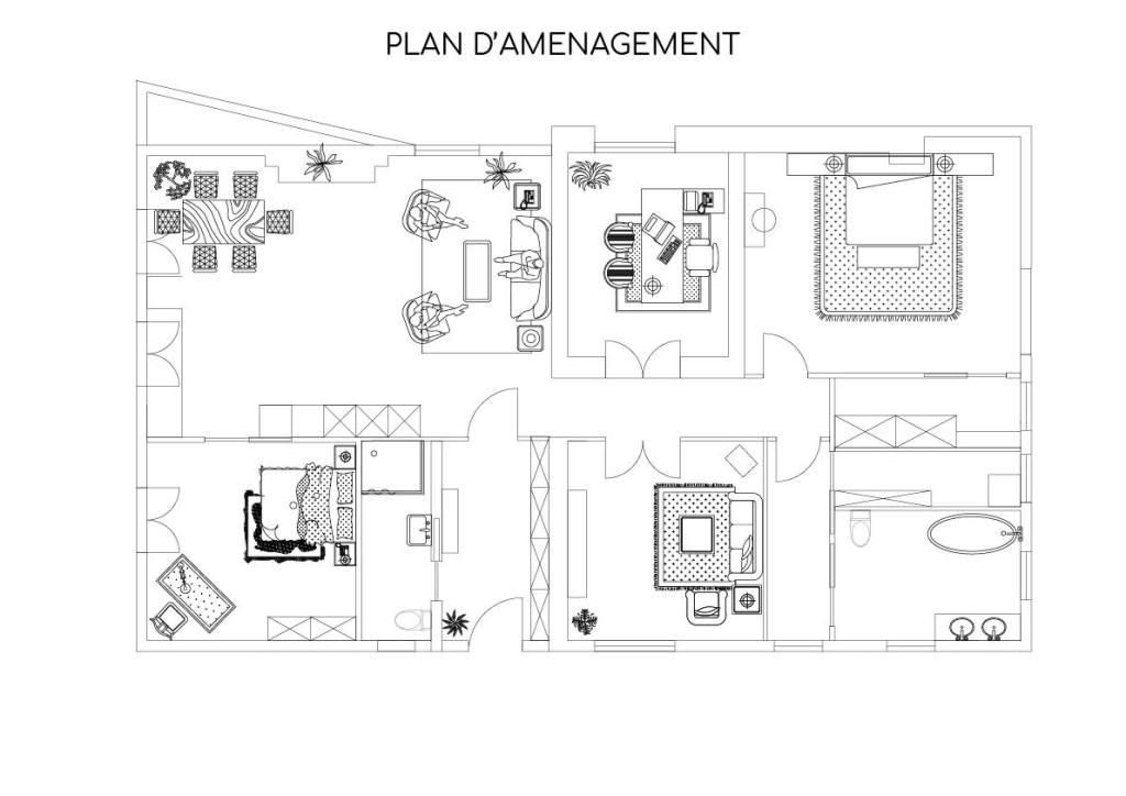 Plan d'agencement Feng Shui Montreuil