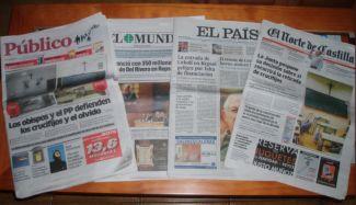 Público, El Mundo, El Pais y el Norte de Castilla del 25 de noviembre. /N.G.M.