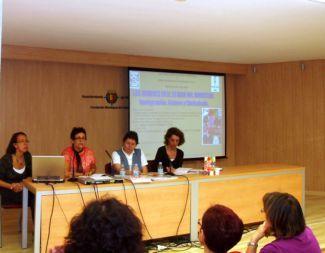 Eva Moreno, Mafalda Rodriguez, Nina Infante y Milagros Alaria en la presentación del libro. /N.G.M.