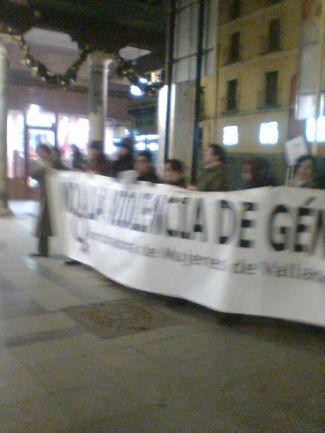 Manifestantes en Valladolid contra la violencia machista. /N.G.M.
