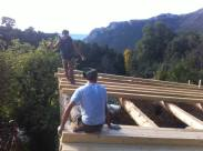 Ben and Sam working on the roof.
