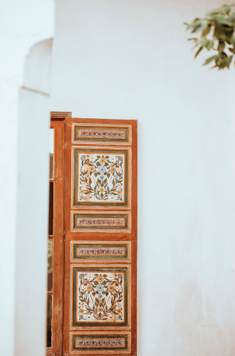 Artisans in Morocco Moroccan door