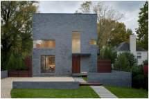 кубический дом с плоской крышей