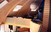 купольный дом комната наверху