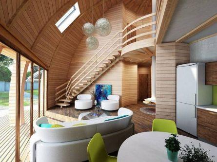 планировка сферического дома