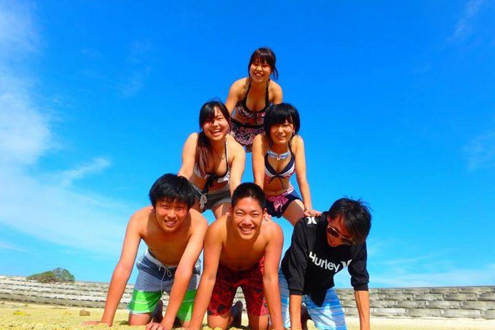 村おこしボランティア【宝島コース】での海水浴