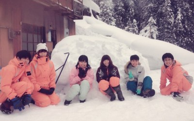 生まれて初めての雪かき!