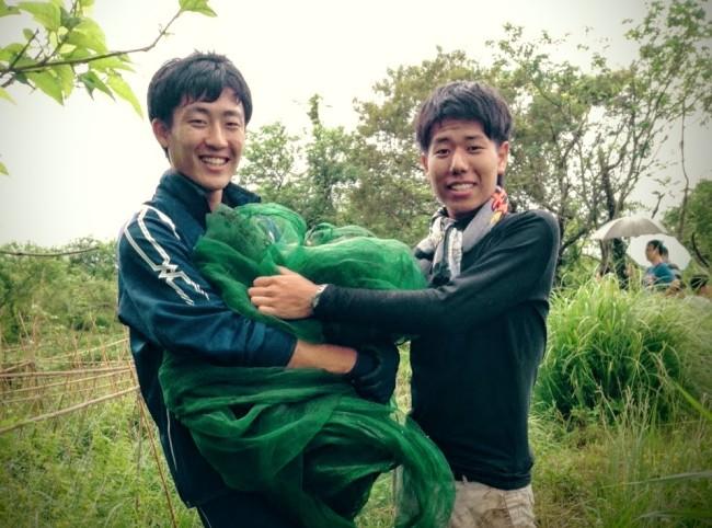 台湾で自然農法を実践する農家さんのお手伝いをする学生ボランティア