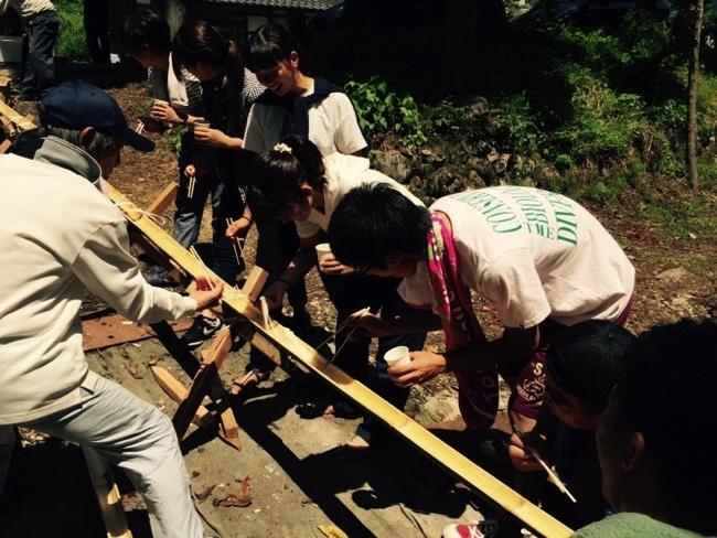 北谷でのボランティア活動の様子