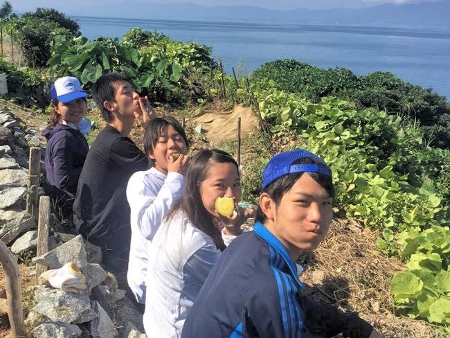村おこしボランティア【沖島コース】の学生ボランティア