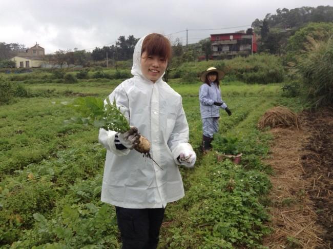 自然農法について学んだ農園初日。