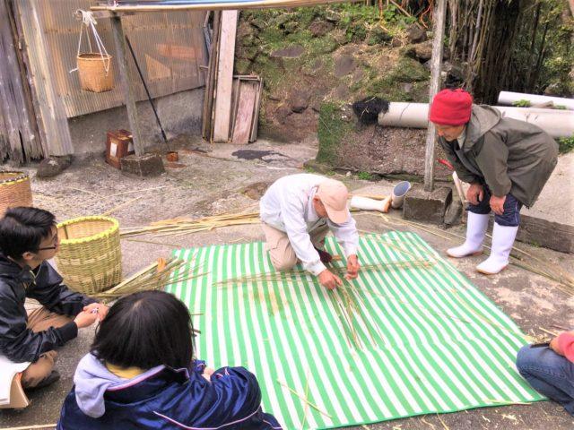 竹島でただ一人の竹かご職人のもとへ