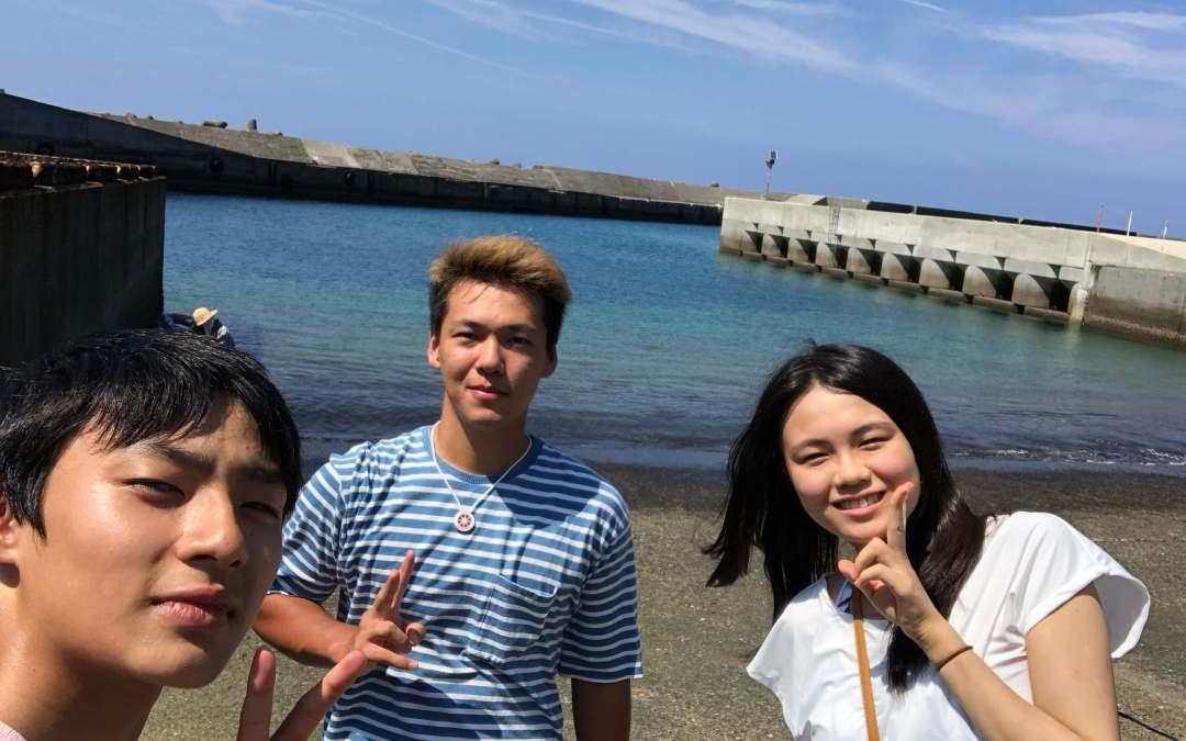 竹島の綺麗な海