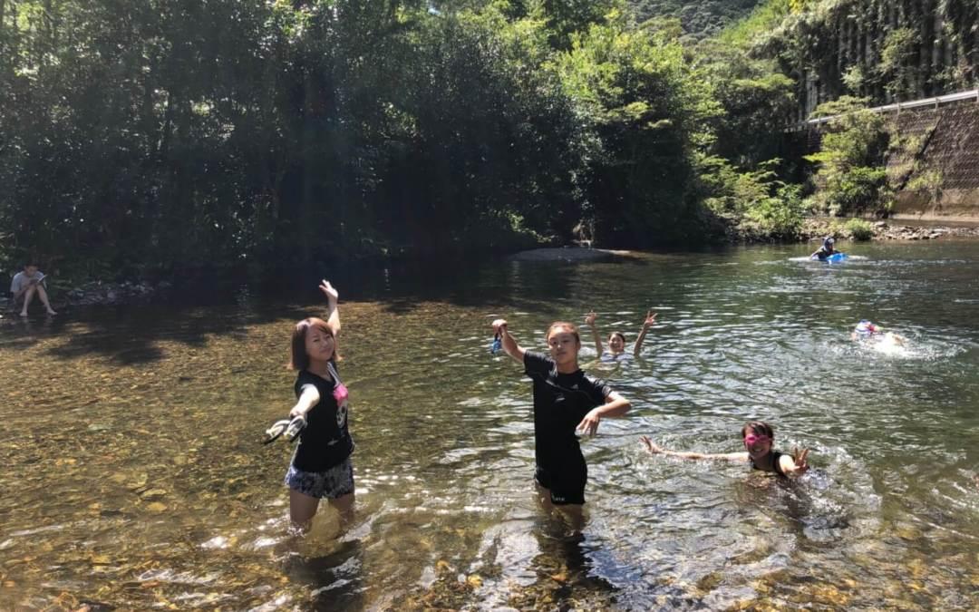 川に行きました!
