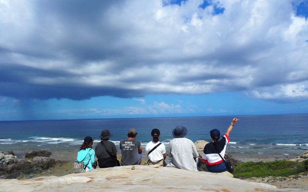 渡嘉敷は、エメラルドグリーンの海がとびきり美しい、そして山の多い稲作の島だった!!