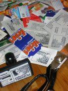 Tarjetas de cartón reciclado