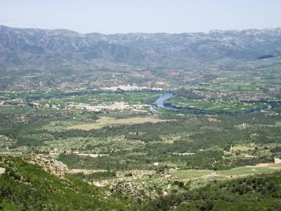 Vista del valle del Ebro