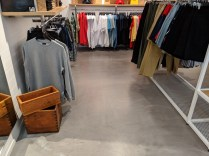 fashion retail outlet concrete floor