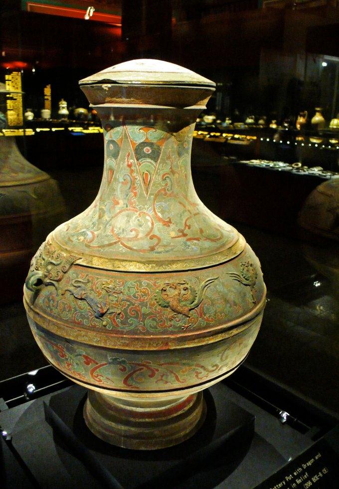 Old ceramics on display