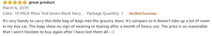 BeeGreen  Elastic Zipper review