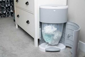 Saving diaper in the trash