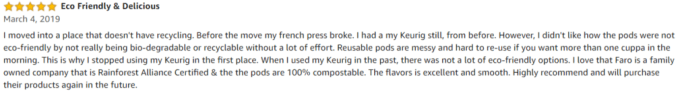 Faro Roasting review