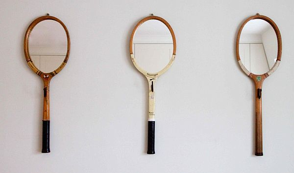 Tennis racket mirror