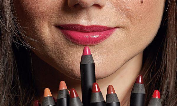 Sali Hughes with lip crayons