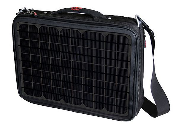 Solar powered laptop bag