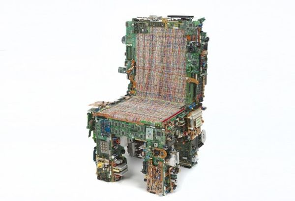 Circuit board and computer ribbon cables chair