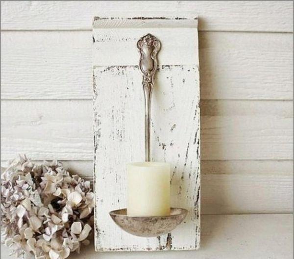 Ladle candle holder