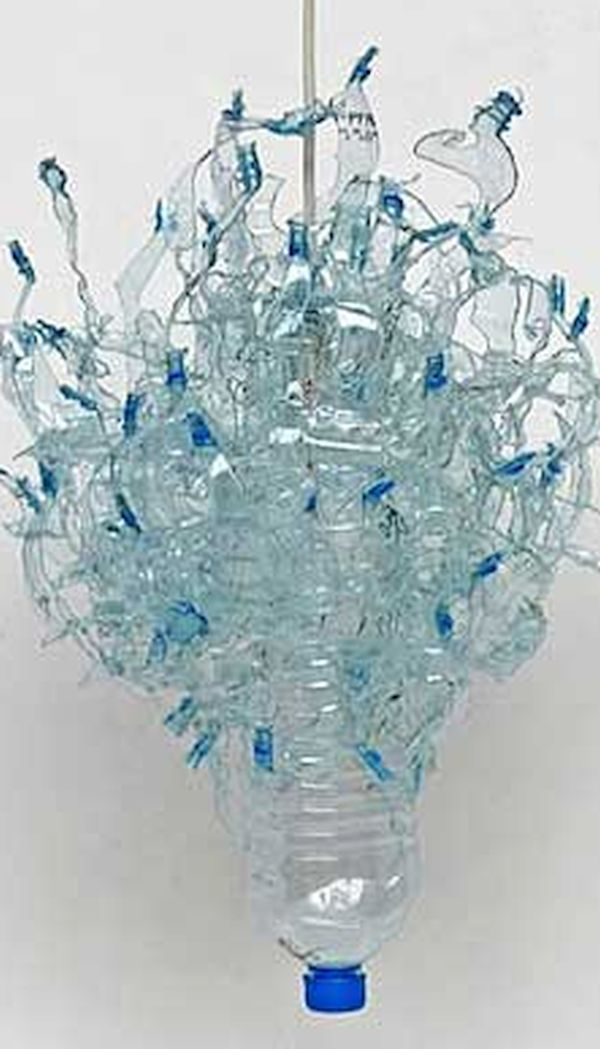 Chandelier using Ocean based plastic items