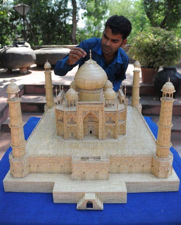 Matchstick Taj Mahal by Shaikh Salimbhai