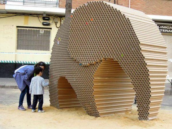 Cardboard Elephant by Nituniyo