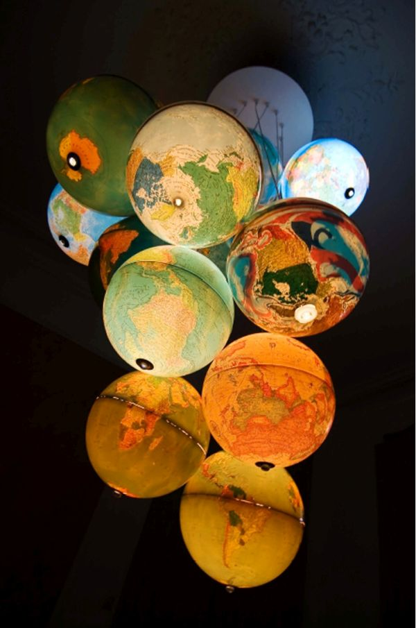 Recycled Globe Chandelier