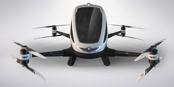 Flying Autonomously with Ehang 184