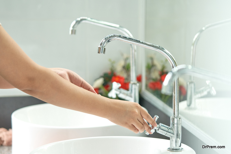 Do not keep water running from a tap