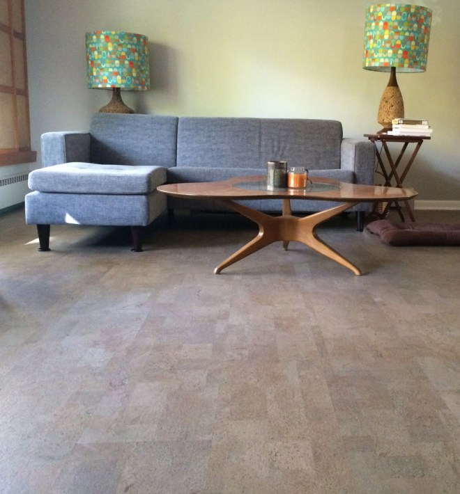 New, Mache Latte is an elephant Gray colored, matte finished cork.