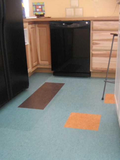 Add Deko Squares into a solid colored floor for added interest.