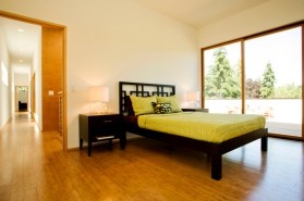 Its ok to use contrasting furniture against bamboo flooring.