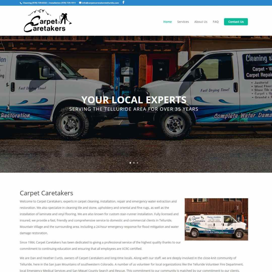Carpet Caretakers Website
