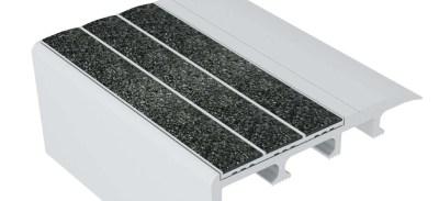 C4 N20 Non Slip Carpet Stair Nosing Ecoglo Products | Black Carpet Stair Treads | Bullnose | Padded | Stair Runner | Staircase | Non Slip Stair Tread