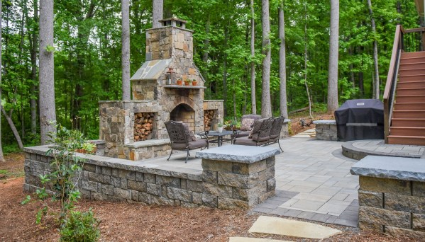 paver patio designs with fireplace Paver Patio Designs With Fireplace