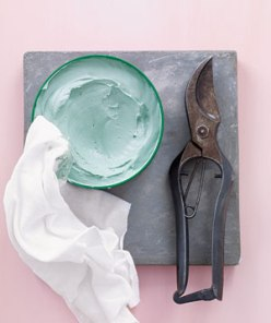 For cleaner cuts with less elbow grease, rub a little paste on the hinge of a pair of garden shears so they don't get jammed.